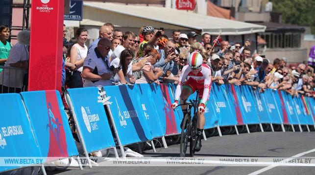 Белорусский велосипедист Василий Кириенко выиграл гонку с раздельным стартом на II Европейских играх