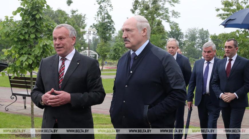 Александр Лукашенко положительно оценил работы по развитию и благоустройству Могилева