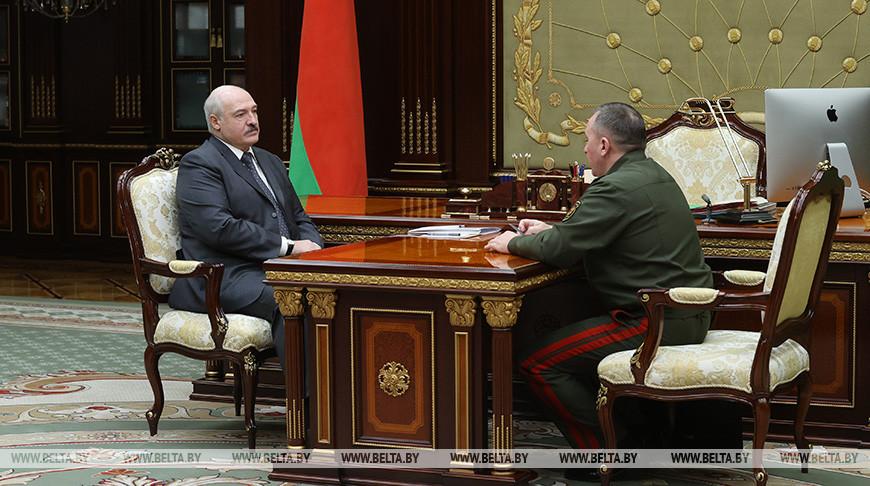 О ситуации в армии, деструктивных силах и патриотизме - Александр Лукашенко принял с докладом министра обороны