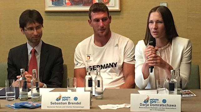 Дарья Домрачева и Себастьян Брендель представили в Берлине II Европейские игры