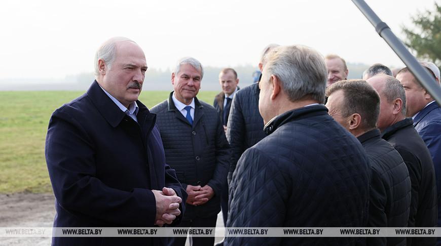 Александр Лукашенко посещает предприятие с самой высокой урожайностью картофеля в стране