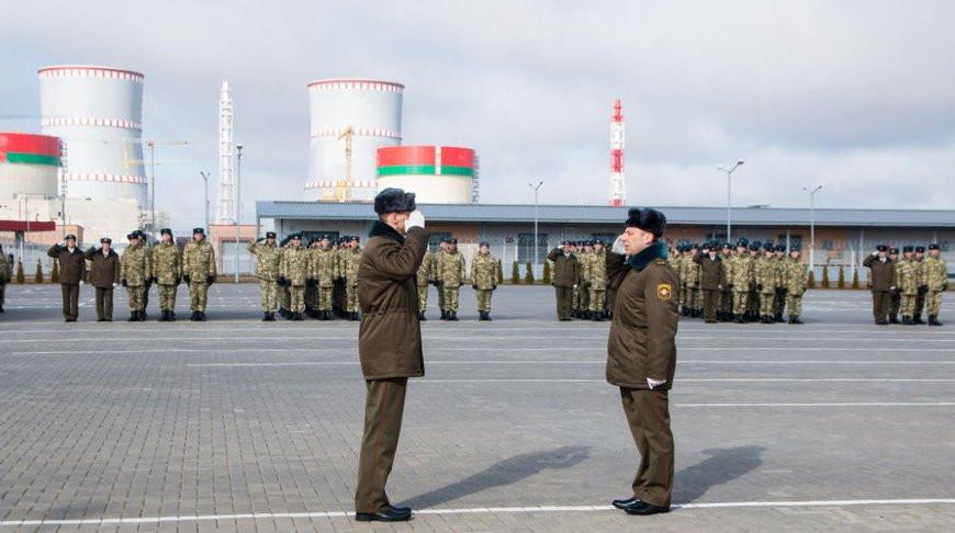 Военнослужащие внутренних войск МВД заступили на боевое дежурство по охране БелАЭС