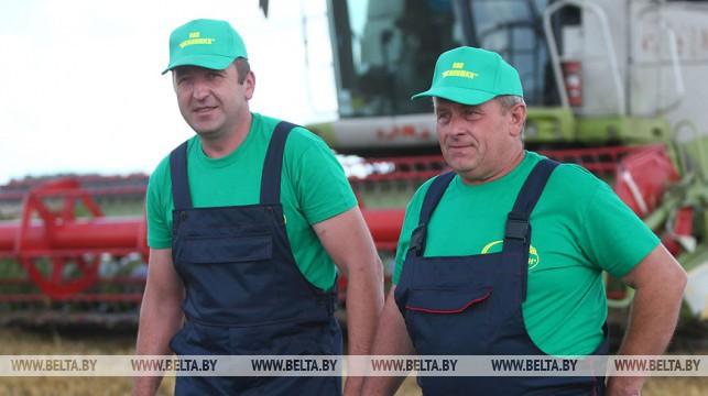 Свыше 40 экипажей комбайнеров в Гродненской области преодолели тысячетонный рубеж по намолоту зерна