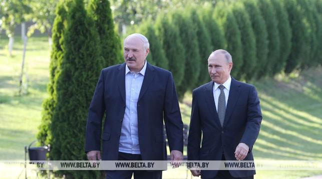 Неформальная встреча Александра Лукашенко с Владимиром Путиным прошла в государственной резиденции «Заславль»