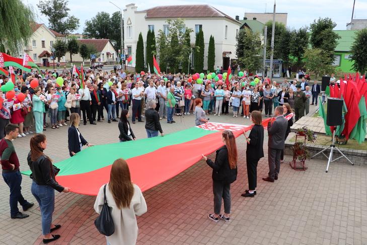 В Берестовице прошел митинг «За мирную Беларусь!»