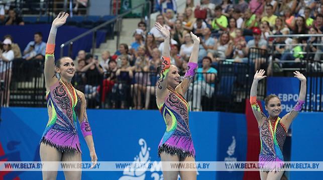 Белорусские акробатки завоевали бронзу в многоборье на II Европейских играх