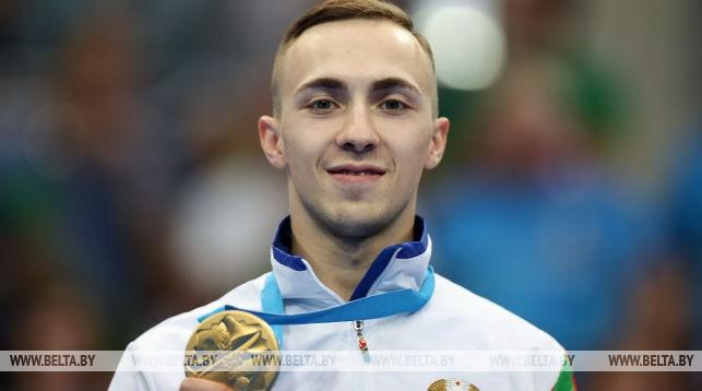 Александр Лукашенко поздравил батутиста Владислава Гончарова с завоеванием золотой медали II Европейских игр