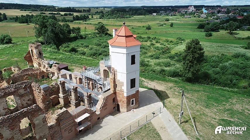 В начале мая во всемирно известном Гольшанском замке после реконструкции торжественно откроют Северную башню