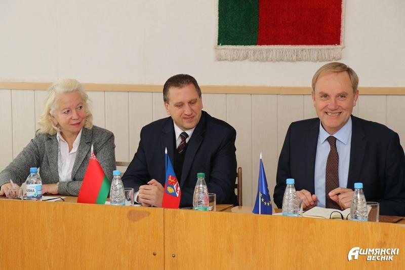 Энергосберегающие технологии и новые совместные инициативы. Ошмяны посетила делегация Европейского союза в Беларуси