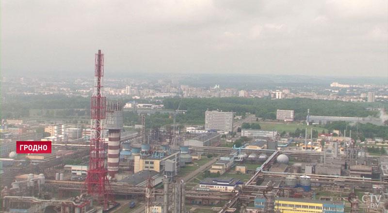 «Пламя мира» в Гродно: огонь подняли на высоту 133 метра (видео)