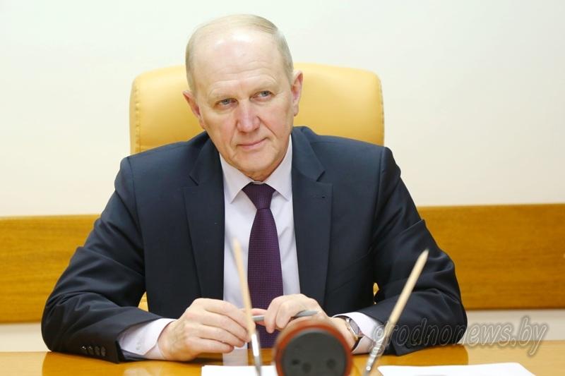 Поздравление председателя облисполкома Владимира Кравцова с 75-летием Гродненской области