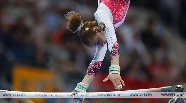 Гродненка Анастасия Алистратова стала третьей в упражнении на брусьях II Европейских игр
