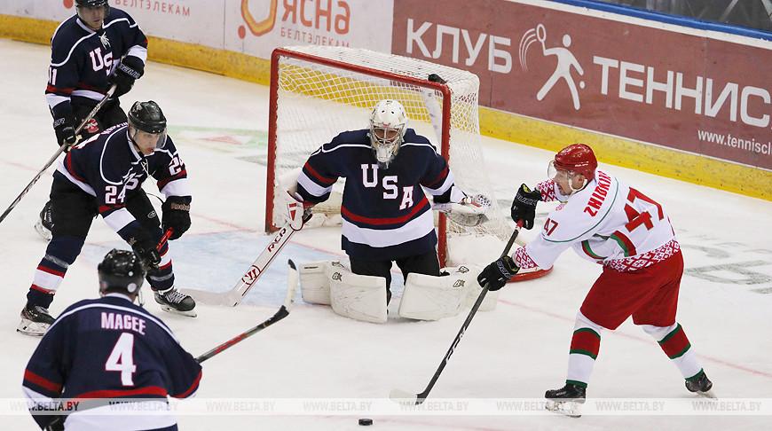 Команда Президента Беларуси победила хоккеистов США и вышла в 1/2 финала Рождественского турнира в Минске
