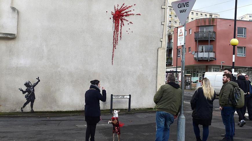 Бэнкси создал граффити ко Дню святого Валентина
