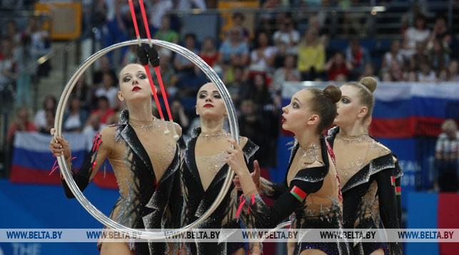 Белорусские гимнастки в групповых упражнениях завоевали два золота II Европейских игр