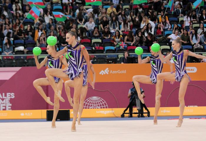 Белорусские гимнастки завоевали олимпийские лицензии в групповых упражнениях