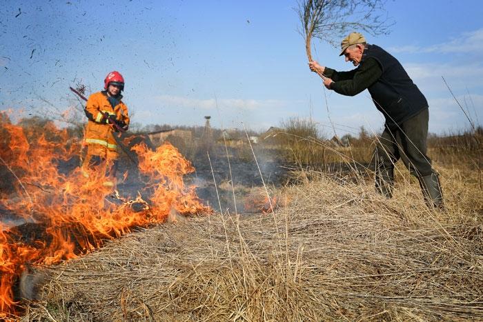 На Гродненщине с начала года уже 6 раз горела сухая трава