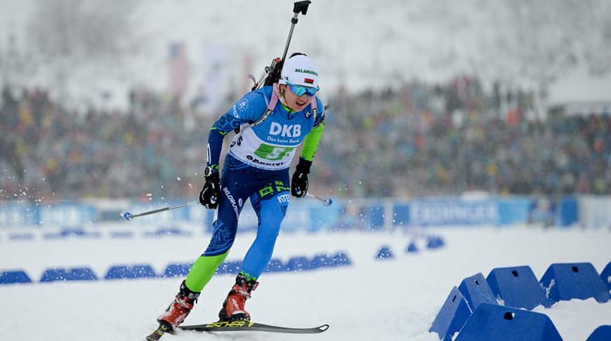 Женская сборная Беларуси заняла четвертое место в эстафете на ЧМ по биатлону