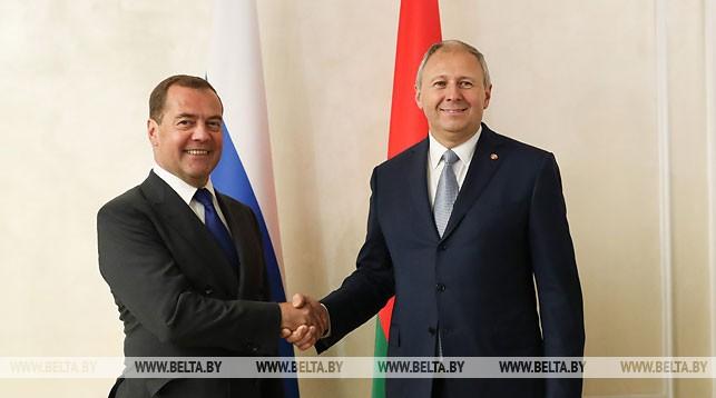 Сергей Румас и Дмитрий Медведев проводят встречу в Минске