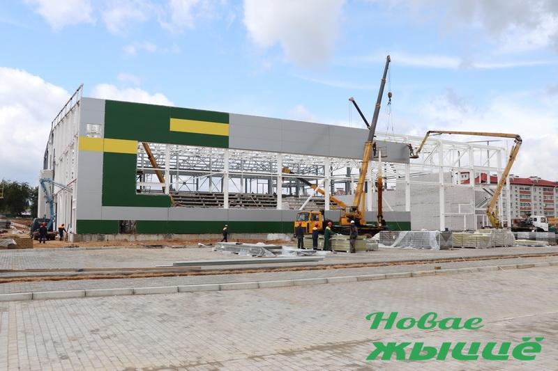 В Новогрудке возводят масштабный комплекс игровых видов спорта с бассейном, инклюзивной инфраструктурой и возможностью для прямых телетрансляций