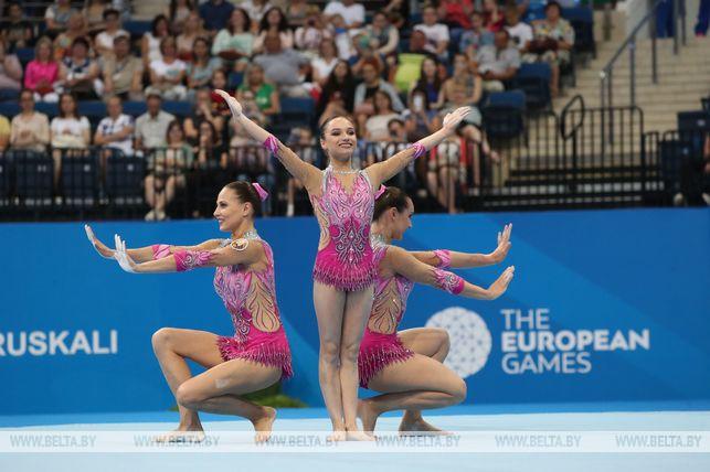 Акробатки Вероника Набокина, Юлия Ивончик и Карина Сандович завоевали первое золото белорусов на II Европейских играх