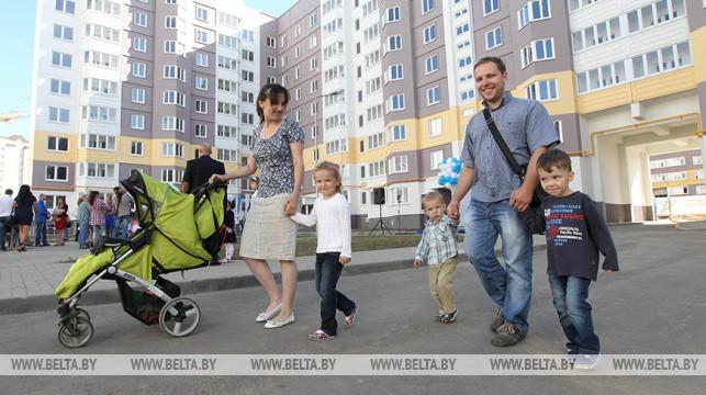 Свыше 13,8 тыс. квартир планируется построить в Беларуси в 2020 году для многодетных семей