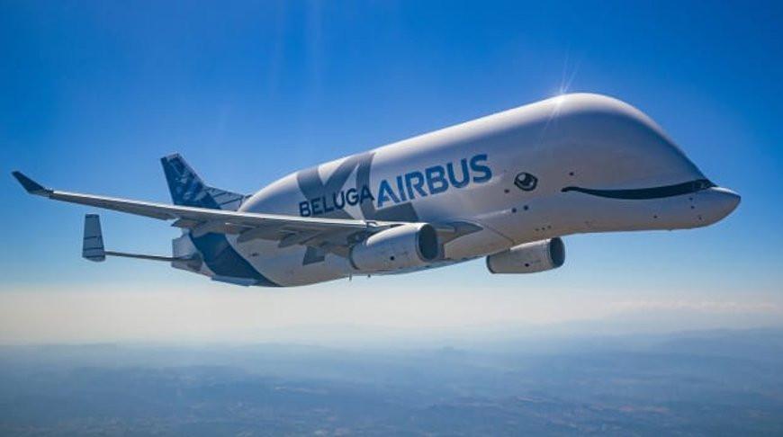 Авиакомпания Airbus ввела в эксплуатацию новый самолет в виде кита белухи