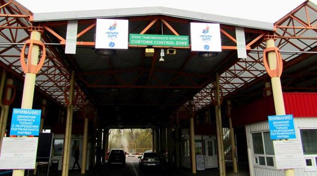 Электронные табло с правилами ввоза товаров накануне II Евроигр установили на белорусской границе