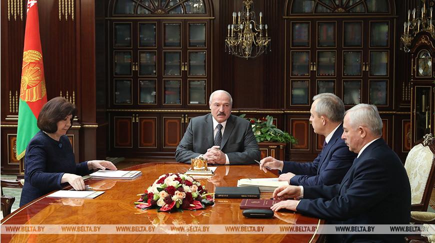 Александр Лукашенко провел встречу с Натальей Кочановой, Игорем Сергеенко и Виктором Шейманом