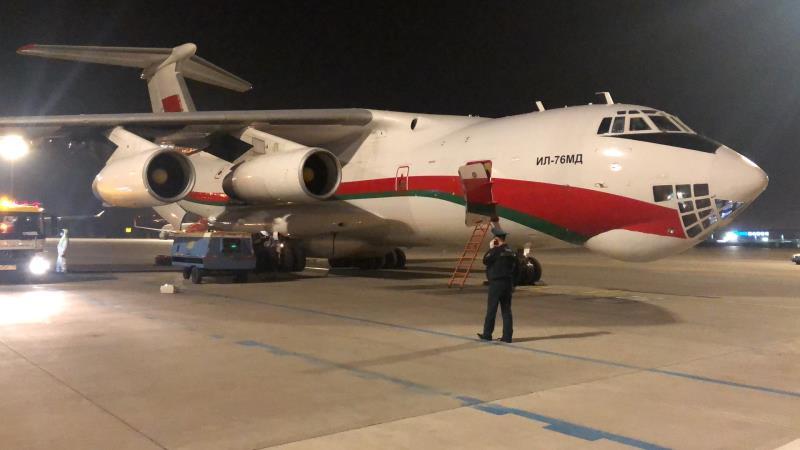 В Беларусь прибудет самолет с медпомощью для борьбы с COVID-19 из Китая