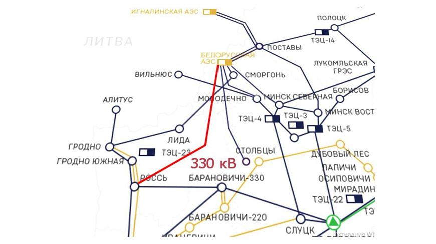 БелАЭС получила седьмую линию связи с энергосистемой
