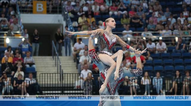 Белорусы Артур Беляков и Ольга Мельник победили в акробатике на II Европейских играх