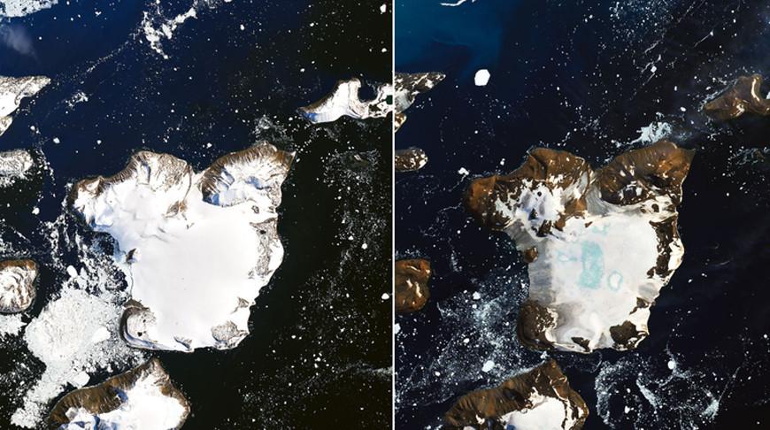 В Антарктиде очень быстро тает снег из-за высокой температуры