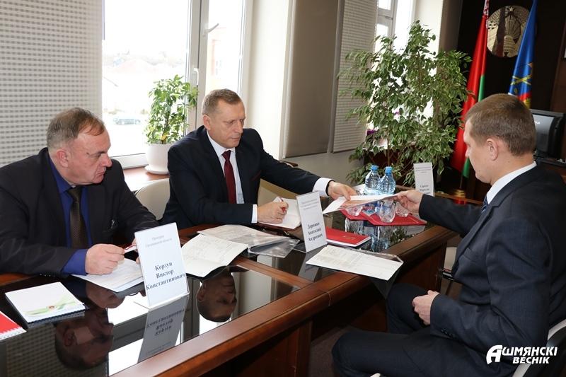 Председатель КГК и прокурор области провели прием граждан в Ошмянах