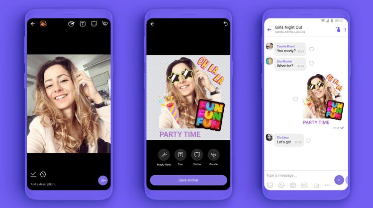 Пользователи Viber смогут создавать собственные стикеры