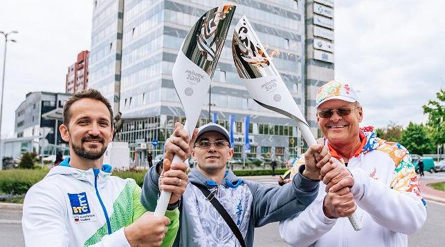 Эстафету огня II Европейских игр встретили в Любляне
