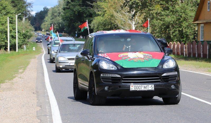 Республиканский автопробег «Символ единства» прошел на Гродненщине