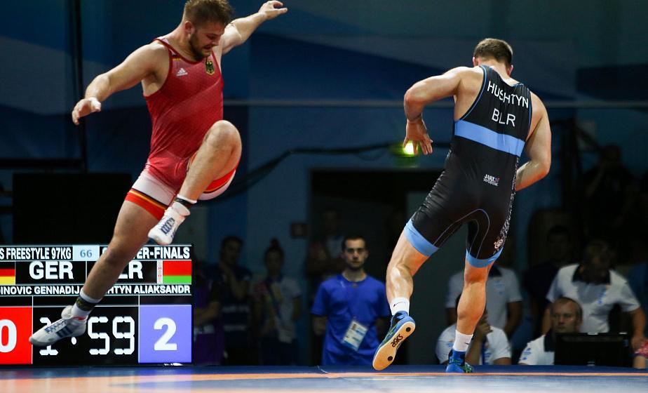 Борец из Свислочи Александр Гуштын стал третьим на турнире II Европейских игр
