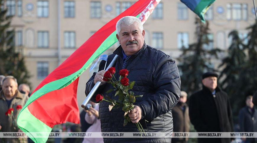 В Минске прошел митинг с участием ветеранов силовых структур