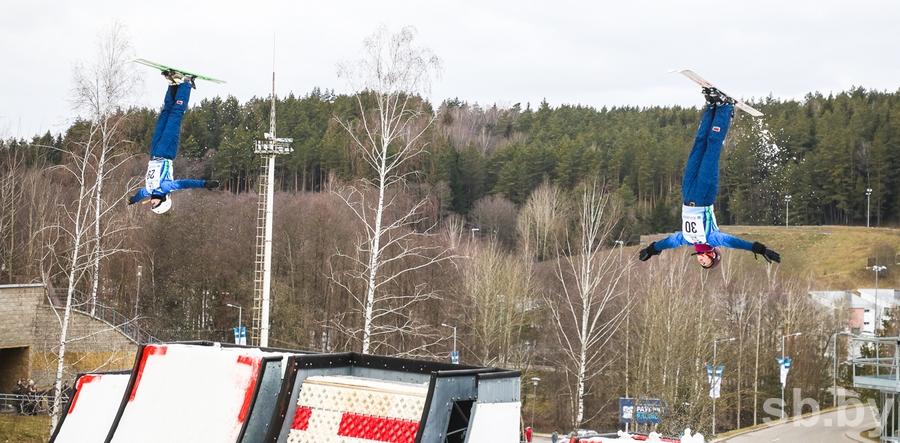 В «Раубичах» завершились этап Кубка мира по фристайлу и международные соревнования по синхронным прыжкам