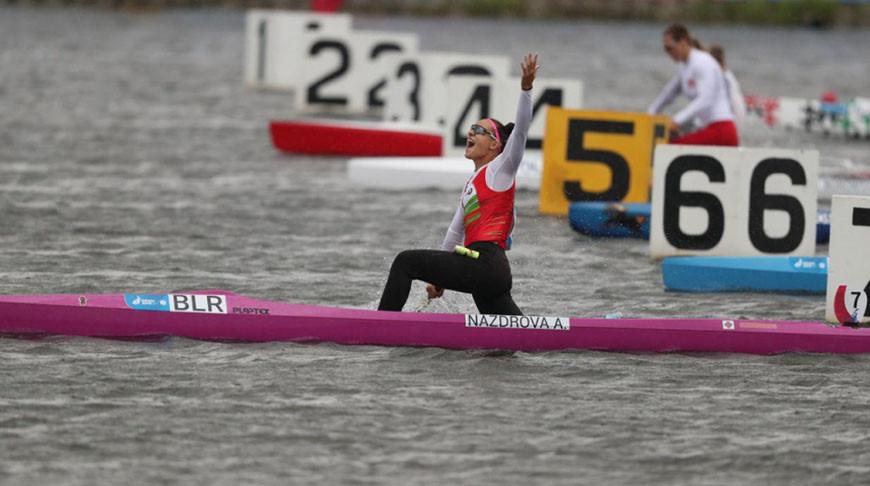 Белорусский женский экипаж каноэ-четверки выиграл золото ЧМ в Дании