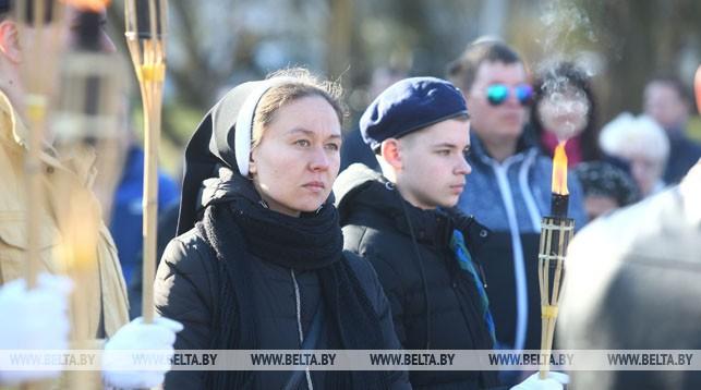 Накануне Вербного воскресенья по улицам Гродно прошел Крестный ход