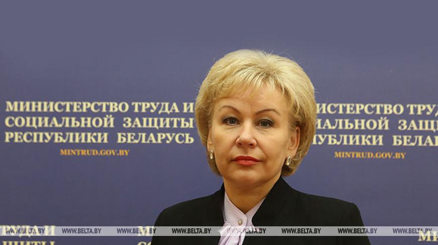 Ирина Костевич: на социальную защиту работников в условиях эпидситуации в Беларуси направят Br180 млн