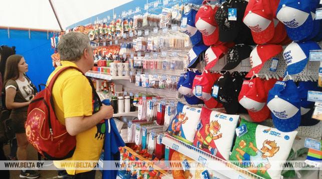 Сувенирная продукция пользуется спросом у болельщиков и участников II Европейских игр