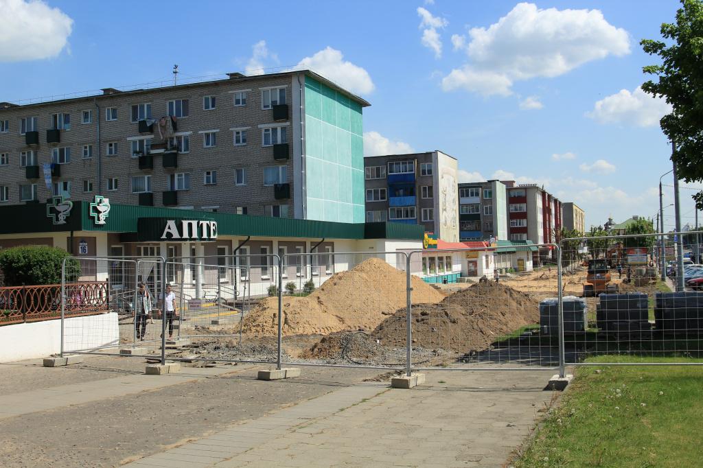 В Сморгони выполнена основная часть реконструкции проспекта Индустриальный.