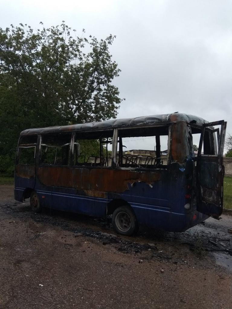 Есть версия, что сгоревший в Гродно автобус подожгли дети
