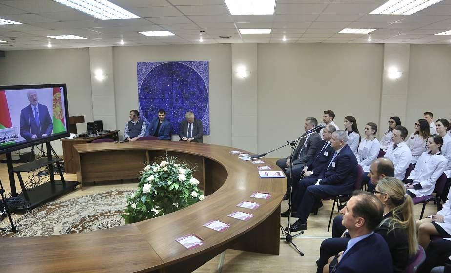 В телемосте с Главой государства в Гродно приняли участие более 600 студентов и преподавателей медуниверситета