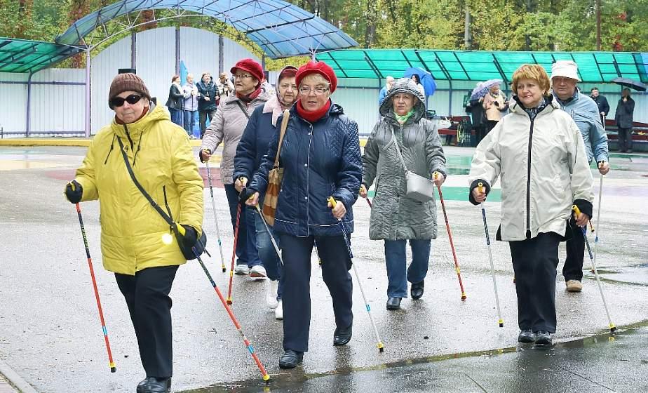 «День добра и уважения». В лесопарке Пышки прошел фестиваль скандинавской ходьбы