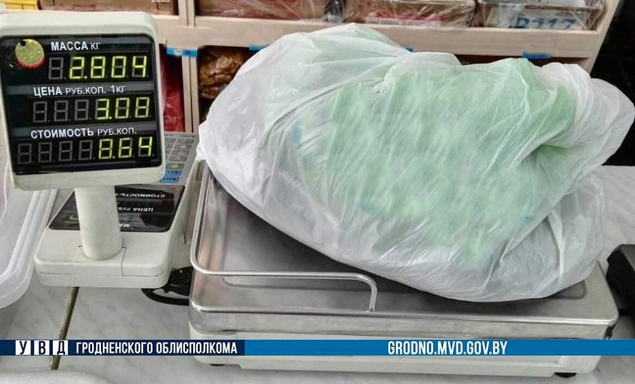 Под Гродно задержан мужчина почти с тремя килограммами насвая