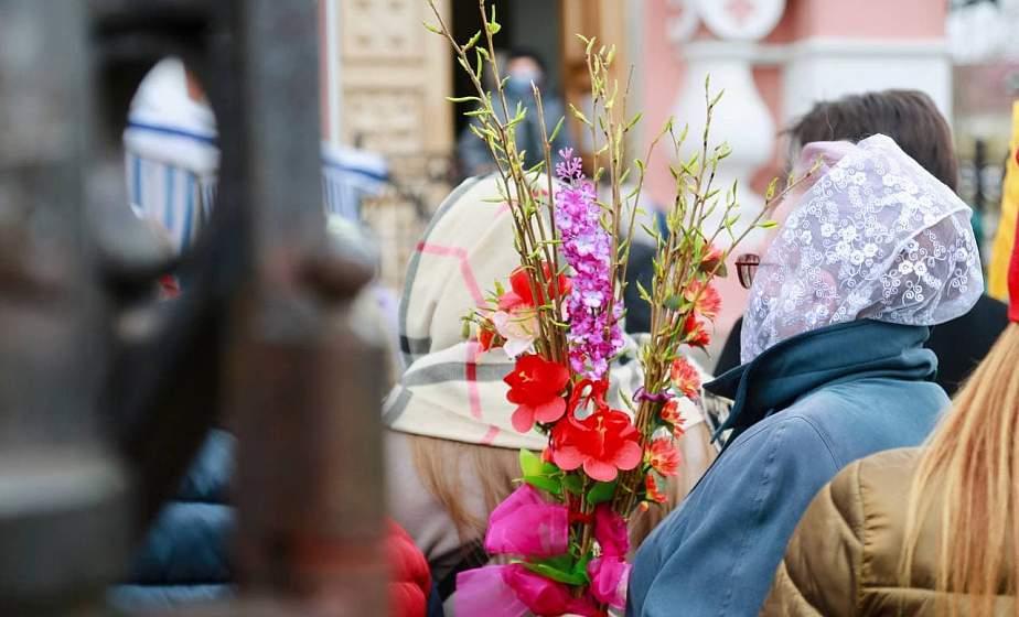 Православные верующие празднуют Вербное воскресенье